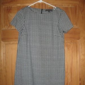 Womens 346 Brooks Brothers Black/White Houndstooth